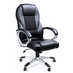 SONGMICS Bürostuhl Chefsessel Drehstuhl Computerstuhl Sitzhöhenverstellung office Stuhl Polsterung OBG22B