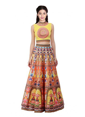 Yellow Silk Printed Designer Floor Length Anarkali Gowns  available at amazon for Rs.1999