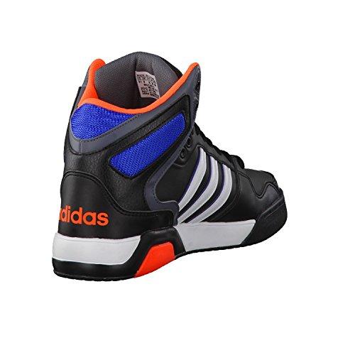 Adidas Bb9Tis, Scarpe da Basket Uomo, Nero Nero / Bianco / Arancione (Negbas / Ftwbla / Narsol)