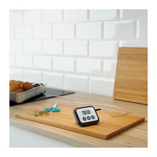 Ikea Fantast - Termometro Digitale Magnetico da Cucina, Colore: Nero
