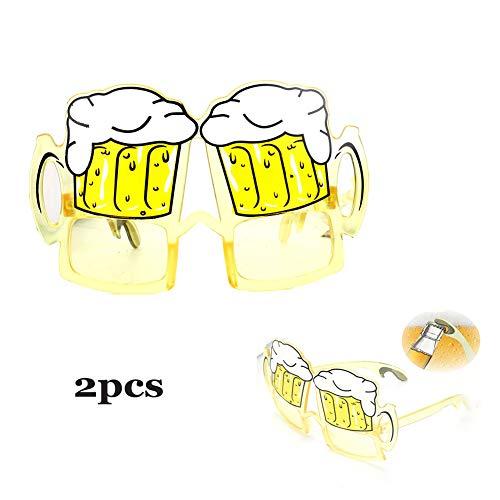 Lustige Gläser Bierkrug Form kreativ, zwei-in-einem Flaschenöffner lustige Gläser Umweltschutz, komfortable Party 2 Paare