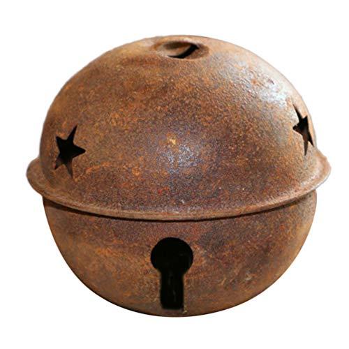 SUPVOX 12 Piezas cascabeles Navidad Metal Oxidado