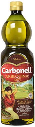 Aceite de oliva virgen extra carbonell monovarietal arbequina 1l en pet verde