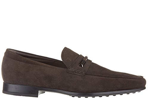tods-mens-suede-loafers-moccasins-morsetto-intreccio-sottile-brown-uk-size-65-xxm0qo0o8400p0s807
