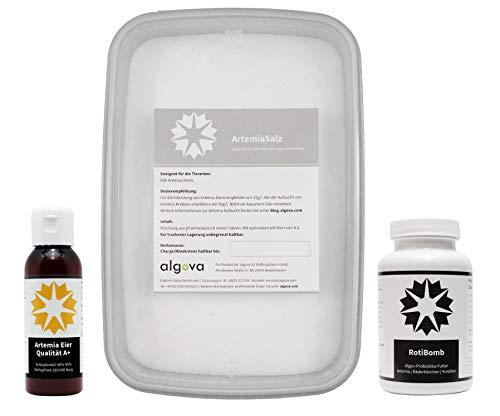 algova Artemia Aufzucht Set (25g A+ Artemia Eier + 1kg ArtemiaSalz + 25g RotiBomb)