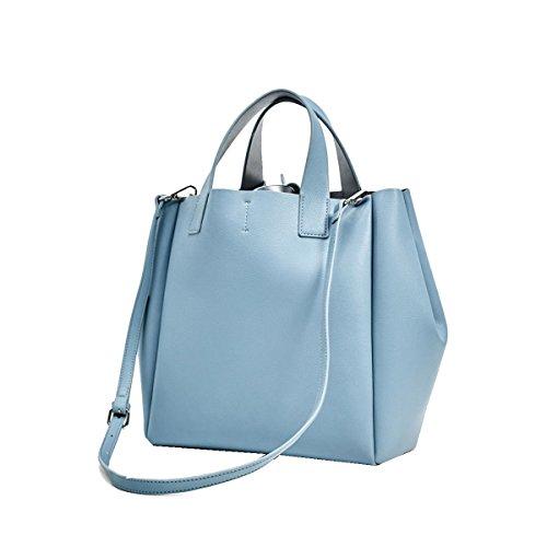Yy.f Borse Mini Due Lati Morbido Shopping Bag Borse Donna Borsa Portafoglio In Pelle Borsa A Tracolla Blue