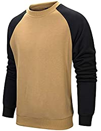 8e02d381c LBL Mens Sweatshirt Jumper Sweater Pullover Work Casual Sweatshirt  Patchwork Top Casual