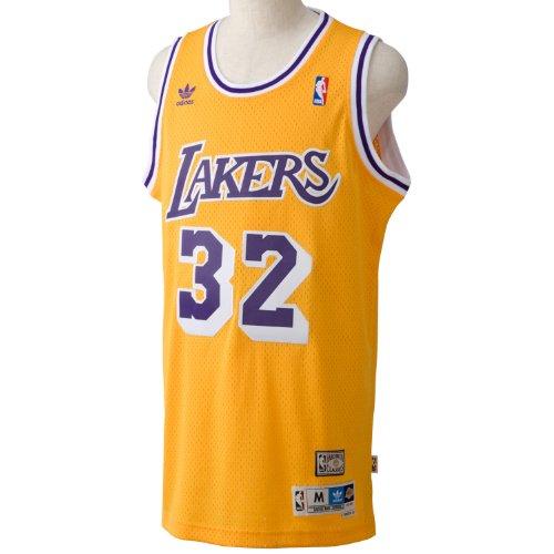 adidas Herren Basketballtrikot Magic Johnson Swingman, NBA Los Angeles Lakers 3, M, L70683 -