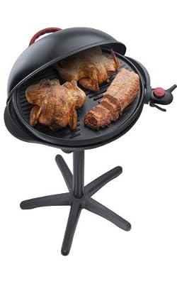 Steba VG 300 elektrischer Barbecue-Hauben-Grill, schwarz / rot von Steba