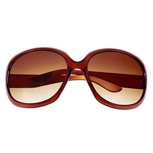 Prinbong UV-Schutz Frauen Sonnenbrillen Großen Rahmen Klassische Brille Big Oval Mit Umrandeten Brillen Spektakel Driving Eyewear