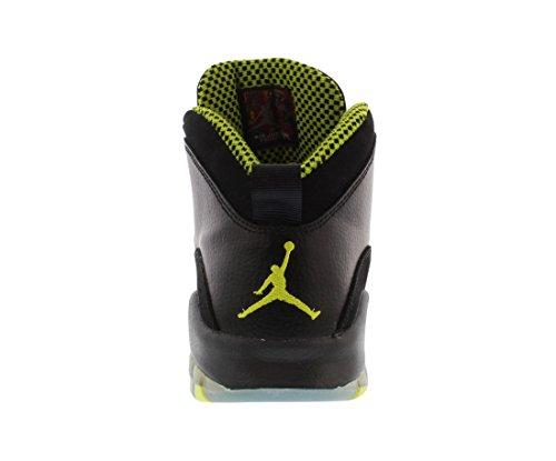 Nike Air Jordan 10 Retro Bg, Chaussures de Sport Garçon, Gris Noir / vert / gris (noir / vert poison / gris froid - anthracite)