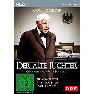 Der alte Richter / Die komplette 12-teilige Serie mit Paul Hörbiger (Pidax Serien-Klassiker) [4 DVDs]