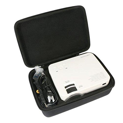 für Beamer, ELEPHAS 1500 Lumen LED Mini Video Projektor Unterstützung 1080P EVA Hart Fall Reise Tragen Tasche von Khanka