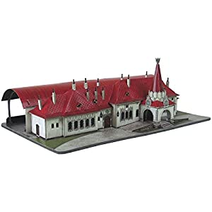 Keranova keranova3321: 150Escala Clever Papel histórico Edificios Estacion Imperial Gare 3D Puzzle