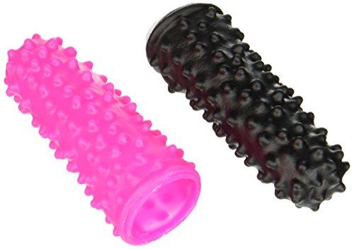 You2Toys Lustfinger Set - zwei Fingerüberzieher mit Reiznoppen für erotisches Vorspiel, Fingerhüllen für sie und ihn, pink/schwarz