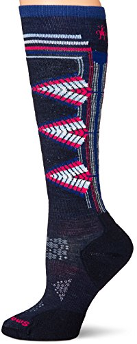 Smartwool Damen Skisocken Phd Lt Ptrn L Blue (Deep Navy)