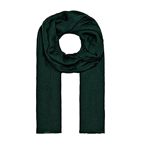 ManuMar Schal einfarbig | Hals-Tuch in Uni-Farben | einfarbig Dunkel-Grün als perfektes Sommer-Accessoire | klassischer Damen-Schal - Das ideale Geschenk für Frauen
