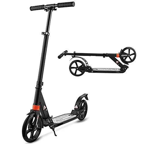 YUEBO Trottinette Adultes Pliable Patinette Enfant 2 Roues City Scooter City Roller Kick Scooter Enfants et Adultes