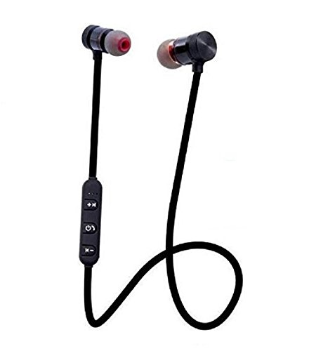 Teconica A01 Wireless Bluetooth Headset Magnet Earphone With Hand-free Calling, Bulit-In-Mic, Extra Bass Stero, Lightweight And Sweatproof Prefect For Gym, Running Compatible With All IOS, Android & Window Device (Random Colour)