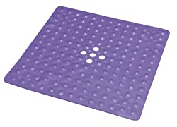 Essential Medical Supply Shower Mat with Drain, Transparent Dark Blue