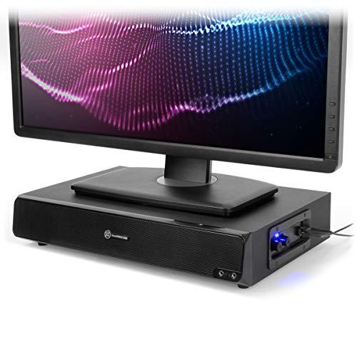 Soporte de Monitor y Altavoz para Ordenador 2 en 1 con alimentación...
