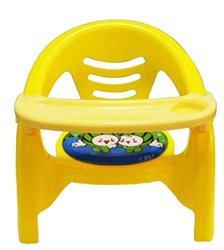 ODELEE TOON CHAIR FOR KIDS WITH DETACHABLE FOOD TRAY (YELLOW)