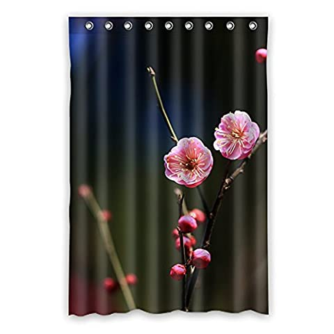Une fois les jeunes–Peach Blossom imperméable rideau de douche polyester Nature Series avec Vivid Color, rideau de douche Tissu haute qualité Taille: 121,9x 182,9cm (120cm x 183cm), Polyester, I, 48