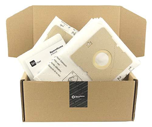 SpareHome® 10 Bolsas de alto rendimiento + 2 microfiltros para aspiradores Nilfisk Bravo