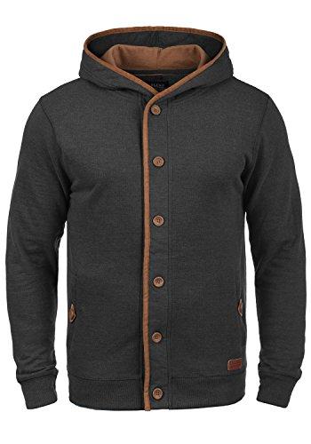 Zip-jacke Charcoal (BLEND Alesso Herren Sweatjacke Kapuzen-Jacke Zip-Hoodie aus hochwertiger Baumwollmischung, Größe:XL, Farbe:Charcoal (70818))