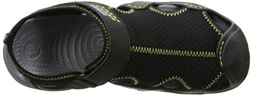 Crocs Swiftwater Sandal, Sandales Bout ouvert - Homme Noir (Black/Charcoal)