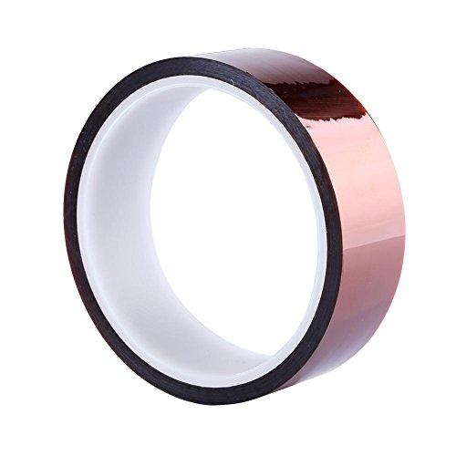 JUNERAIN Isolierband, 30 m, Länge 3/4/6/8/10/12/15/30/50 mm Breite, Gold BGA 30 mm