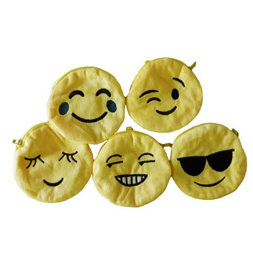 (Geldbörse mit Smily-Motiv, 1 Stk. - Portmonai Münzbörse Emoji Kindergeburtstag Mitgebsel)