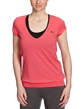 Puma Camiseta para mujer, tamaño XS, color rojo rojo - negro