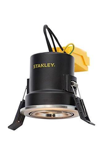 Stanley verstellbar Fire spezifische Einbauleuchte, Stahl, GU10, Satin - Feder-clip-terminal