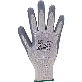Asatex 35108Nitrile Glove, Grey/White, Size 8