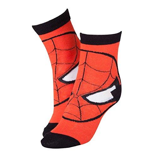 Marvel Rote Socken Spiderman Maske CR115907SPN-39/42(Größe 6-8/Mittel)