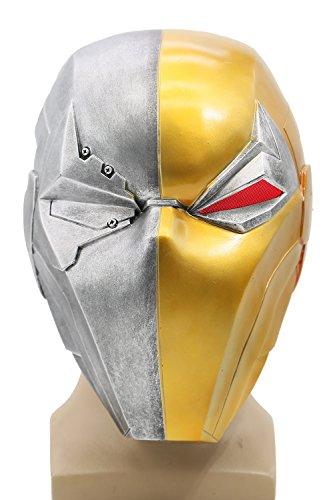 e Herren Harz Maske mit LED Spiel Cosplay Kostüm Merchandise für Erwachsene Zubehör (Kostüm Deathstroke)