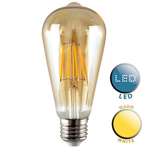 Vintage Style LED Technologie 4W ES E27Einzigartige Design-Stil Bernstein getöntes Eichhörnchen Käfig Steampunk Glühbirne-Warm Weiß -