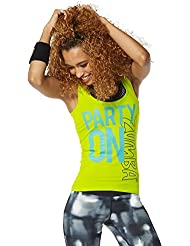 Zumba Fitness Party On Soutien-gorge à bretelle Femme Zumba Green FR : M (Taille Fabricant : M)