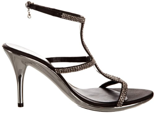 Unze Evening Sandals, Damen Sandalen Schwarz (L18209W)