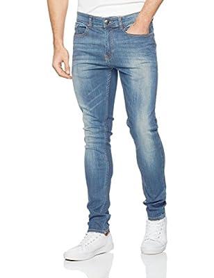 Firetrap Men's Deadly Original Stretch Skinny Fit Jeans Light Wash