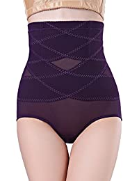 Aivtalk Bragas Moldeadoras Braguitas Calzoncillos de Alta Cintura Ropa Interior Pantalones Interiores para Mujer Postparto Adelgazar Cintura Abdomen Púrpura Talla 2XL