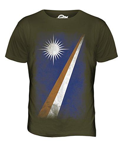 CandyMix Marshallinseln Verblichen Flagge Herren T Shirt Khaki Grün