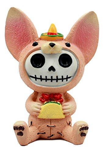 Daisy Kostüm Marienkäfer - Ebros lateinischer Chihuahua Taco Furrybones Figur 8,9cm H mit Kapuze Kostüm Skelett Monster Skulptur Decor Sammlerstück