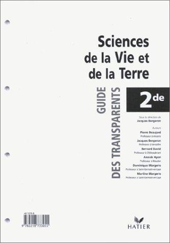 Sciences et vie de la terre, 2de : Transparents