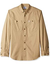 314fec3ba8a Carhartt Mens Rugged Flex Rigby Solid Long Sleeve Work Shirt