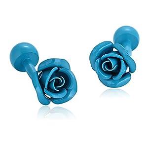 Aeici Herren Manschettenknöpfe Mode Elegant Rosen Blumen Geschenk Manschettenknöpfe