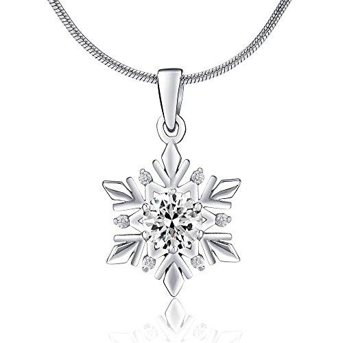 Silberanhänger Schneeflocke mit Swarovski Crystals 925 Sterling Silber
