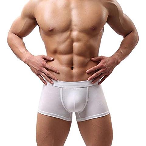 Tongshi Calzoncillos suave calzoncillo retro Pantalones cortos del bombeo de Nueva Funda interior de los hombres de los hombres de (blanca, XL)