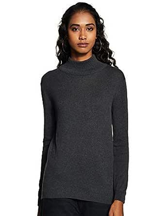 ABOF Women's Pullover (BOA19AWWWSW4000579_Anthra Melange_S)